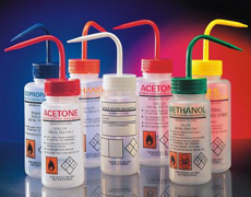laboratory chemical bottles